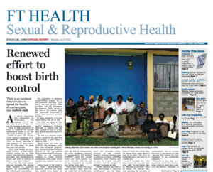 My image of women waiting outside a health clinic in Ethiopia featured in the Financial Times