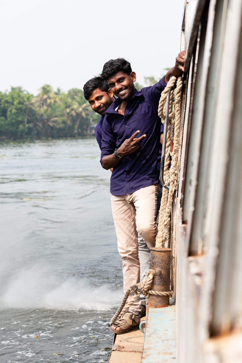 the boat boys who would jump on and off securing the boat at every jetty
