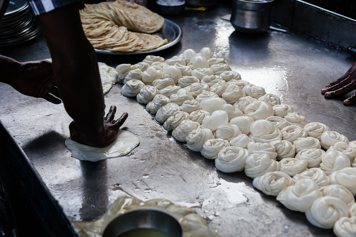 street food - making parathas
