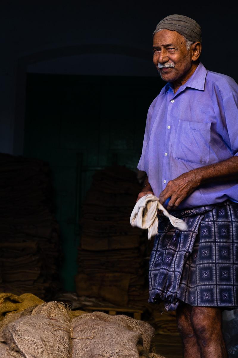 A set of images of traders and wholesale market workers